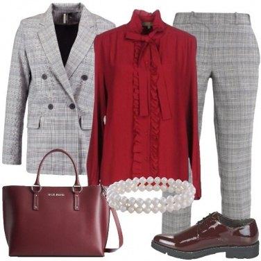 Outfit Perle e scacchi
