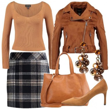 Outfit Sabbia sul tweed
