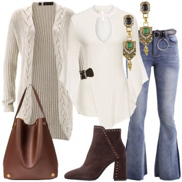Outfit Il cardigan avorio