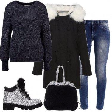 Outfit Stivaletti e cappotto