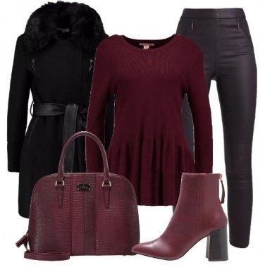 Outfit Leggings e cappotto