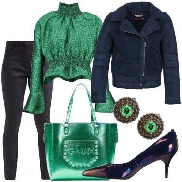 Outfit Il blu e il verde