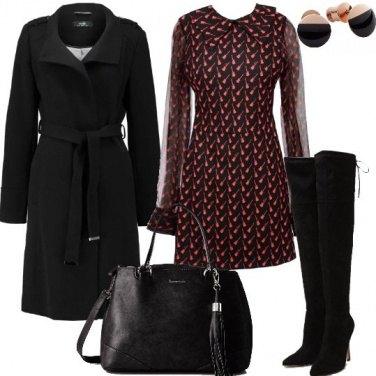 Outfit Il cappotto con cintura in vita