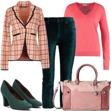 Outfit Delicatezza con giacca di lana