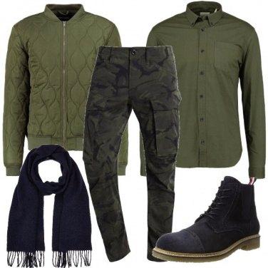 Outfit Cargo e bomber