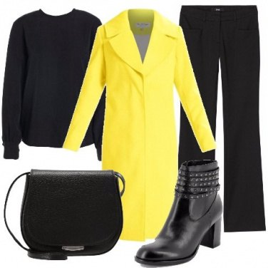 Outfit Cappottino giallo