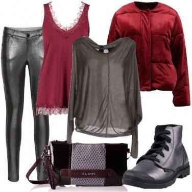 Outfit Metallizzato argento