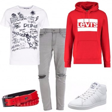 Outfit La felpa rossa