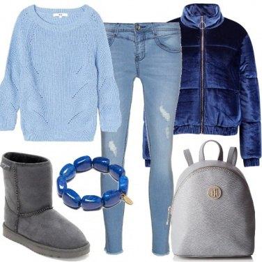 Outfit Nei toni del blu