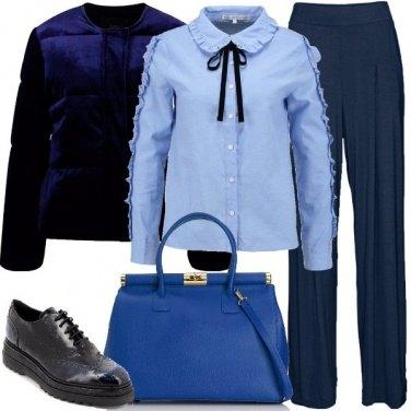 Outfit Un caldo bomber blu
