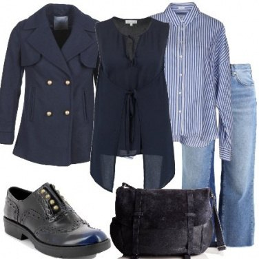 Outfit Mannish in blu