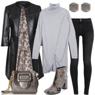 Outfit Il cappotto in ecopelle