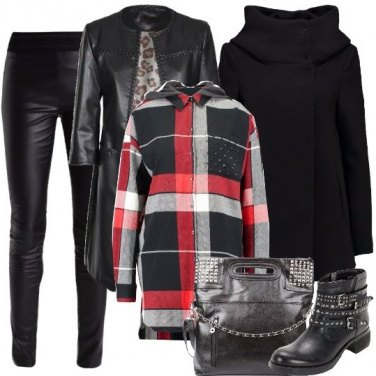 Outfit Ecopelle di carattere