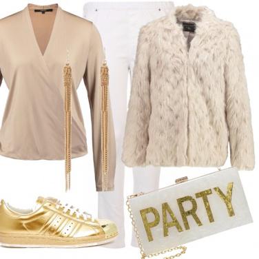 Outfit Una curvy tutta d\'oro!
