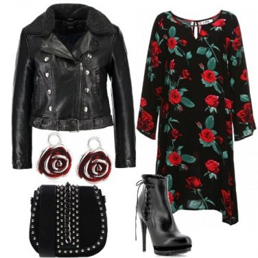 Outfit L\'abito con le rose
