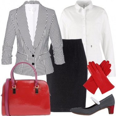 Outfit Un paio di guanti rossi
