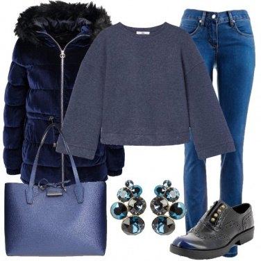 Outfit Il giubbotto blu