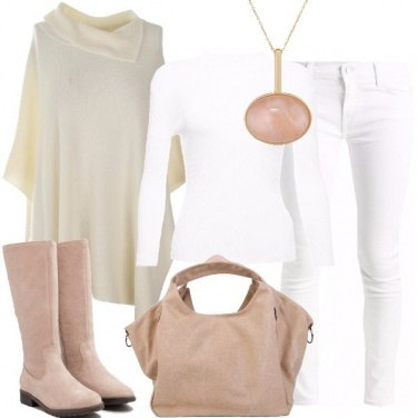 Outfit Delicata di bianco dipinta