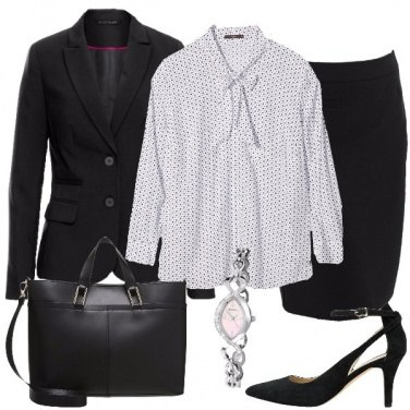 Outfit Il tailleur nero