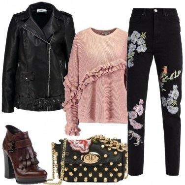 Outfit Ricami e borchie