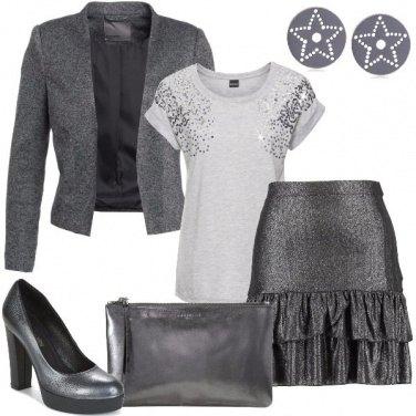 Outfit Grigio lucido