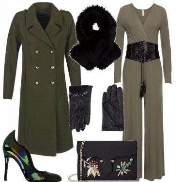 Outfit Stasera tuta verde