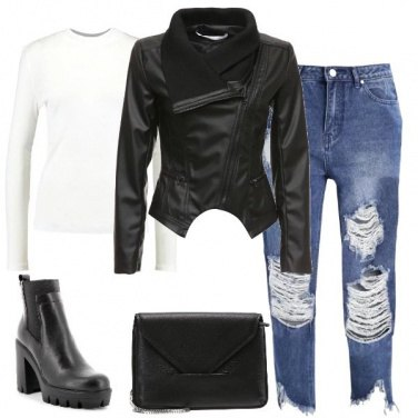 Outfit Biker in ecopelle