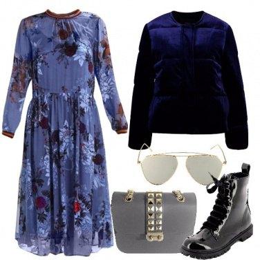 Outfit Il piumino blu notte