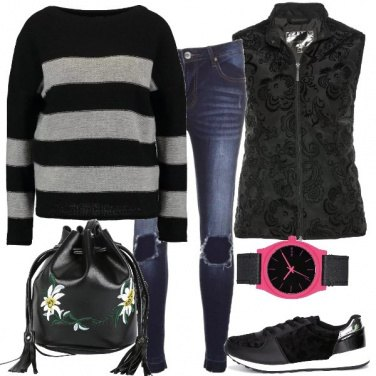 Outfit Maglione a righe