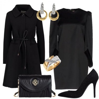 Outfit Sobria e chic in nero