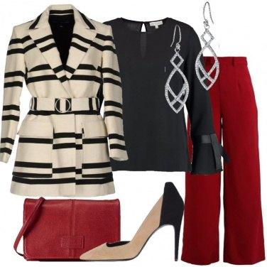 Outfit Il cappotto a righe