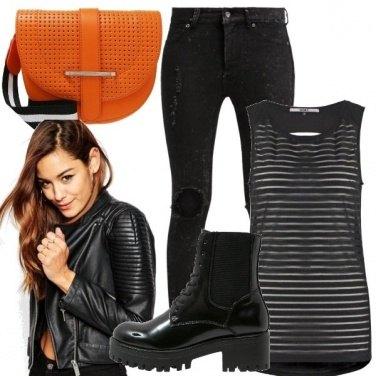 Outfit Un tocco colour per il nero