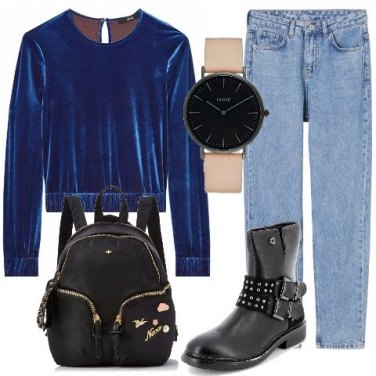 Outfit Top in velluto