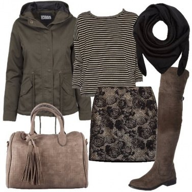 Outfit Rose e righe