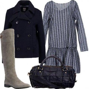 Outfit Stivali alti e giacca corta