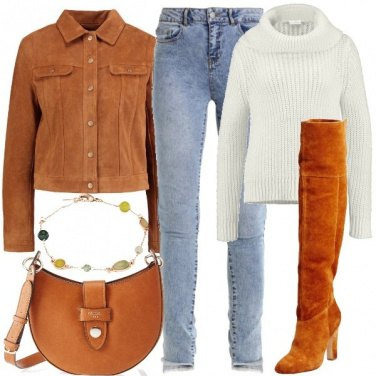 Outfit Giacca e cuissard in pelle