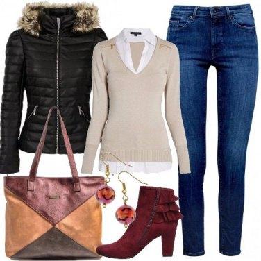 Outfit Piumino e volant