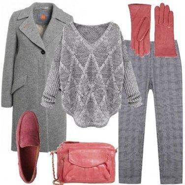 Outfit Con i guanti rosa