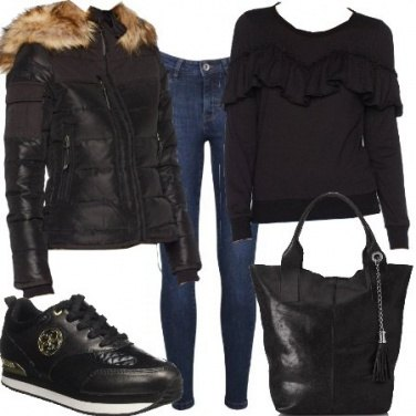 Outfit Maglia con voilant