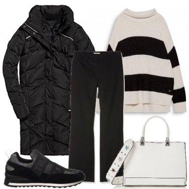 Outfit Bianco più nero