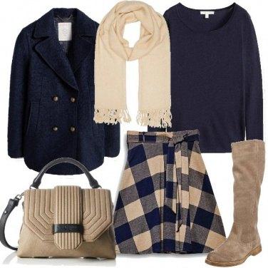 Outfit La gonna a scacchi