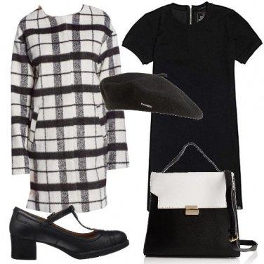 Outfit Bon ton in bianco e nero