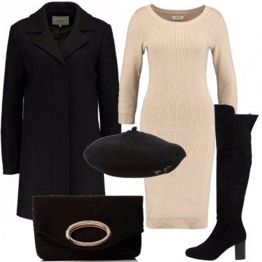 Outfit Stivali cuissard con il vestito