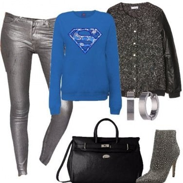Outfit Super in argento