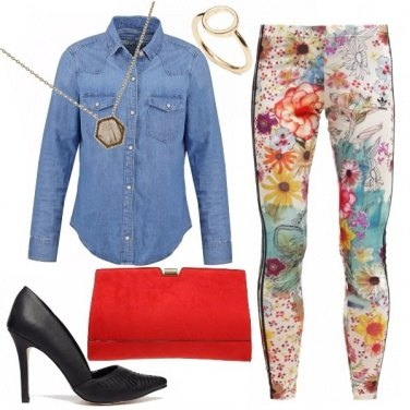 Outfit Floral Leggings