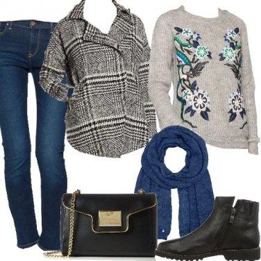 Outfit Con la giacca tartan