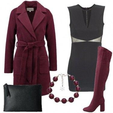 Outfit Stivali e cappotto dello stesso colore