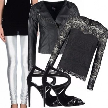 Outfit Leggings in discoteca