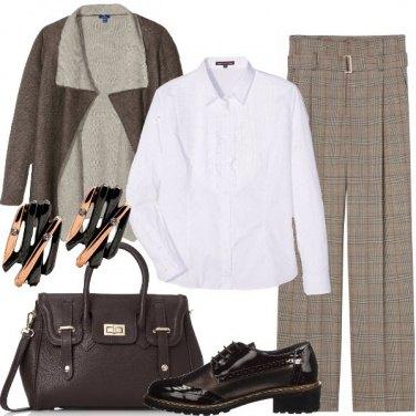 Outfit Scacchi per il giorno