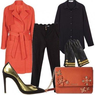 Outfit Il cappotto arancio